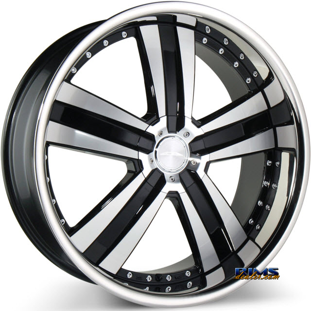 Pictures for Ace Alloy DELUXE C899 - Stainless Steel Lip machined w/ black
