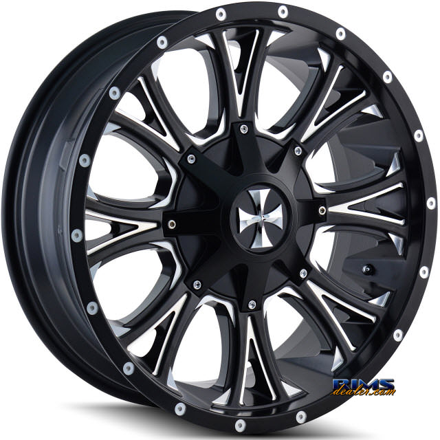 Pictures for Cali Off-road AMERICANA 9101 Black Flat w/ Machined