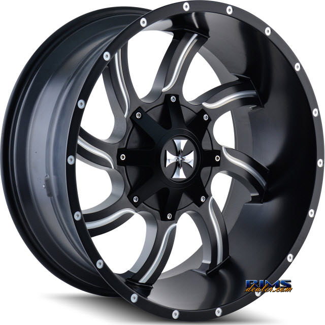 Pictures for Cali Off-road TWISTED 9102 Black Flat w/ Machined