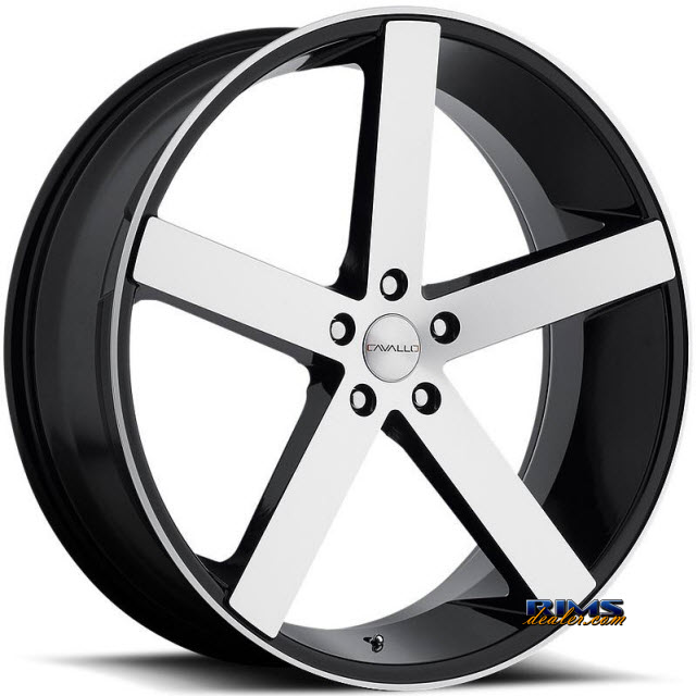 Pictures for Cavallo Wheels CLV-5 machined w/ black