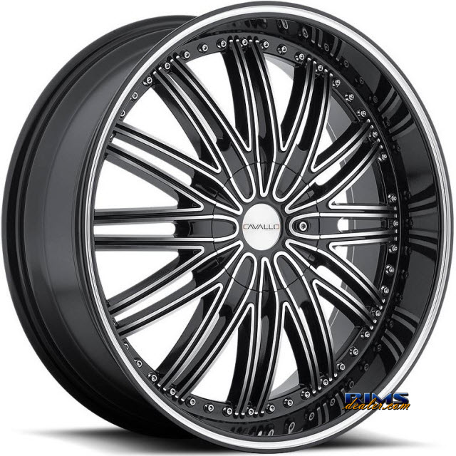 Pictures for Cavallo Wheels CLV-7 machined w/ black