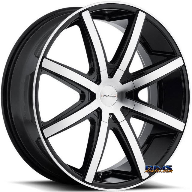 Pictures for Cavallo Wheels CLV-8 machined w/ black