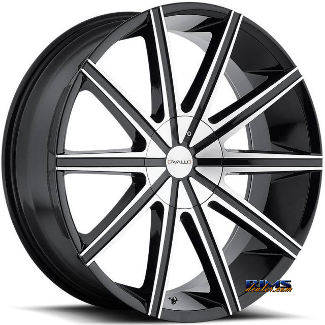 Pictures for Cavallo Wheels CLV-9 machined w/ black