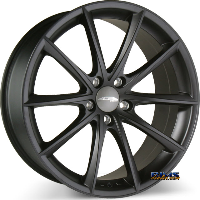 Pictures for Ace Alloy CONVEX D704 Black Flat