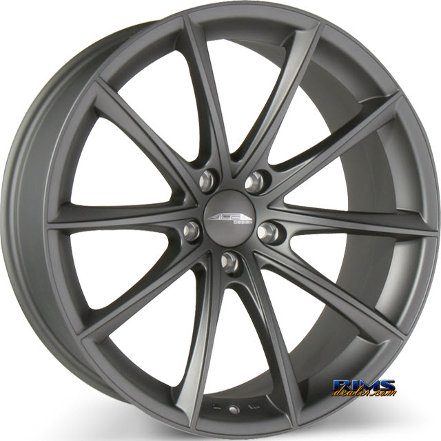 Pictures for Ace Alloy CONVEX D704 Gunmetal Flat