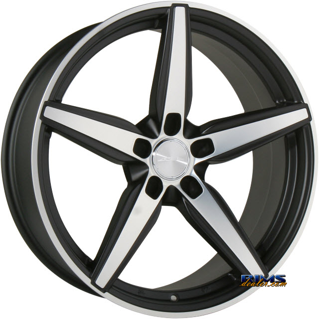 Pictures for Ace Alloy COUTURE C903 black flat w/ machined