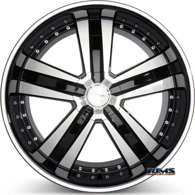 Pictures for Ace Alloy DELUXE C899 machined black w/stripe