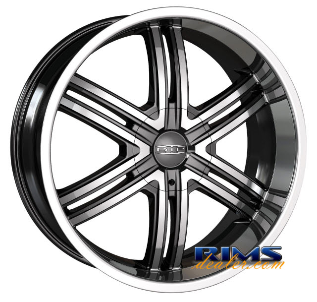 Pictures for Dip Rims HACK black flat w/ machined