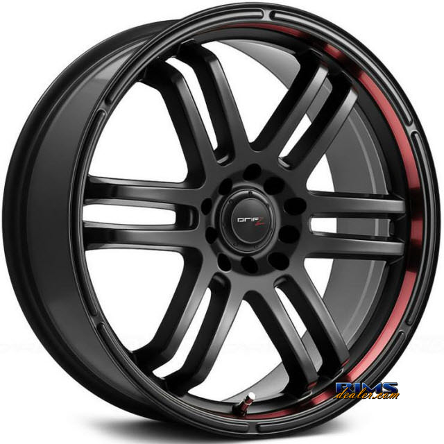 Pictures for DRIFZ FX Black Machined w/ Red Stripe