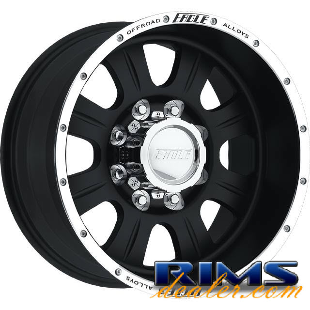 Pictures for EAGLE ALLOYS Series 140 black flat