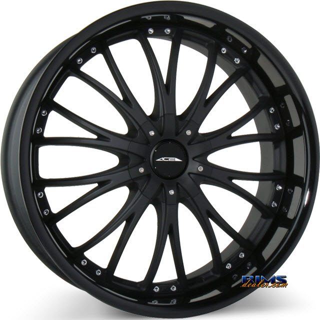 Pictures for Ace Alloy EMINENCE D709 black flat w/ black gloss lip