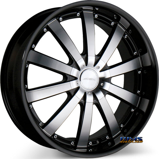 Pictures for Ace Alloy EXECUTIVE C853 - Black Lip black flat w/ machined