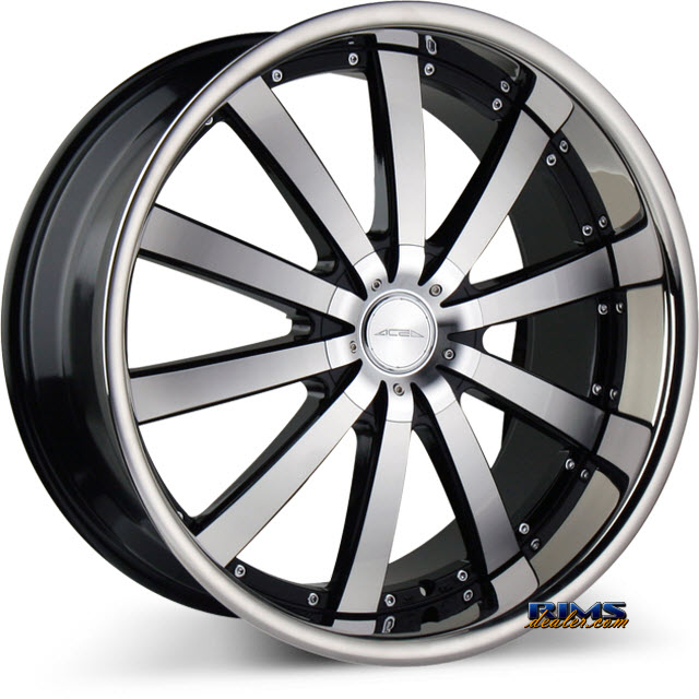 Pictures for Ace Alloy EXECUTIVE C853 - Stainless Steel Lip black flat w/ machined