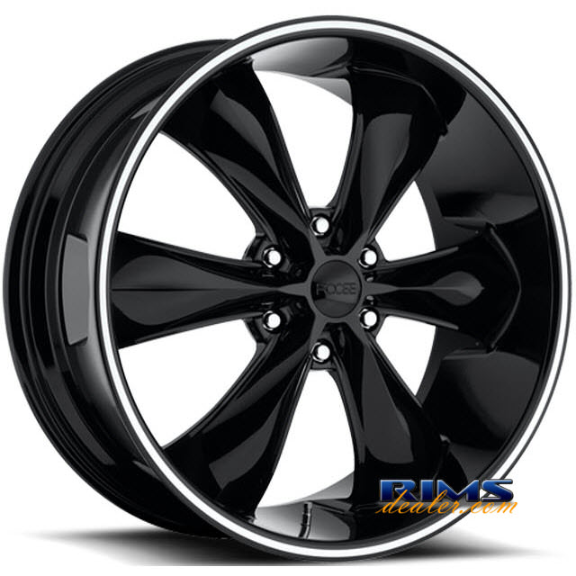 Pictures for FOOSE Legend Six black gloss w/ machined