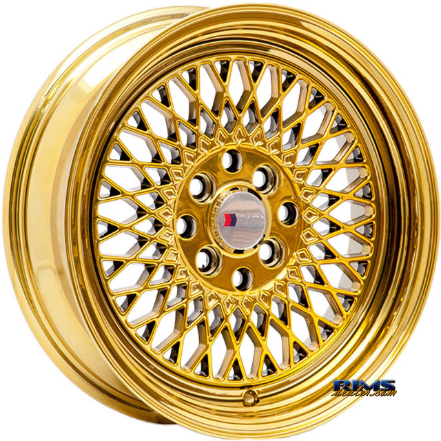 Pictures for F1R Wheels F01 - Chome Gold Gold Flat