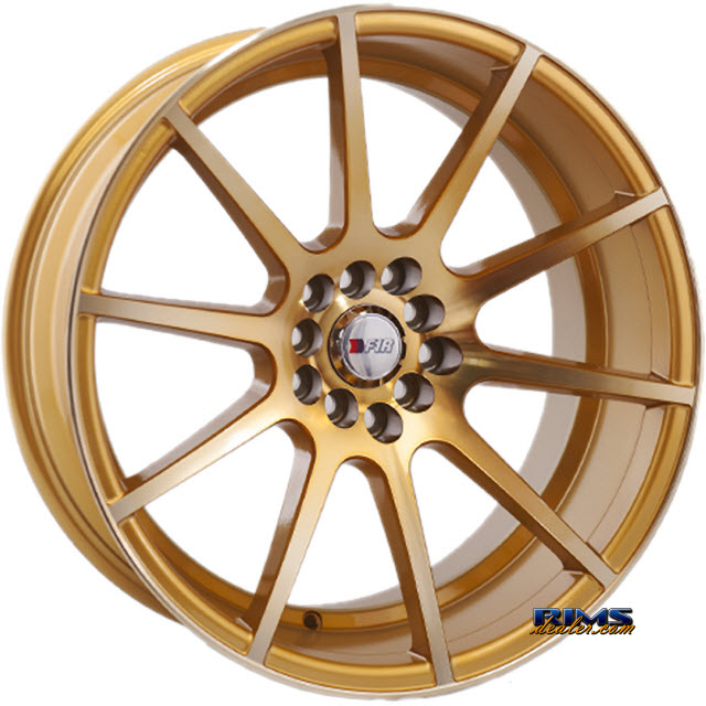 Pictures for F1R Wheels F17 Gold Flat