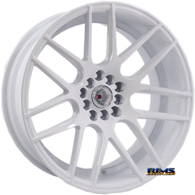 Pictures for F1R Wheels F18 White Flat