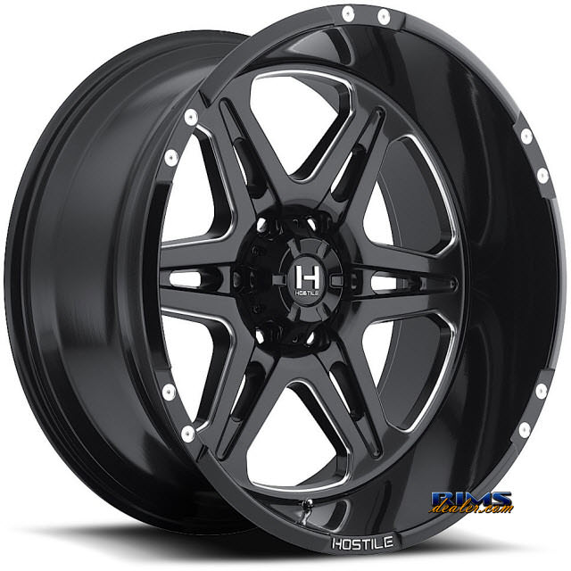 Pictures for Hostile Truck Wheels H102 - HAVOC 6 black flat w/ machined