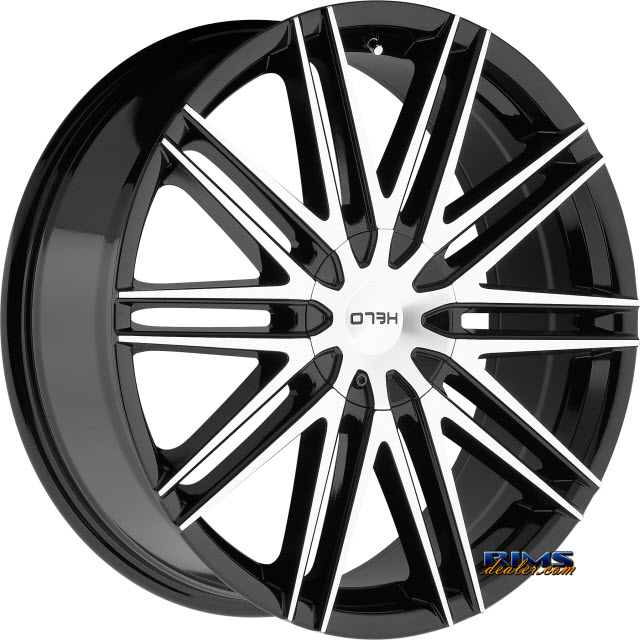 Pictures for HELO HE880 Black Gloss w/ Machined