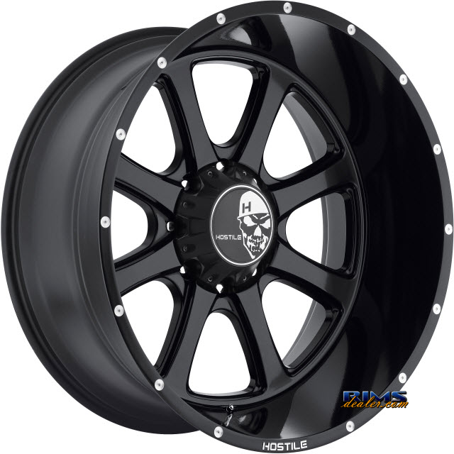 Pictures for Hostile Truck Wheels H105 Black Flat