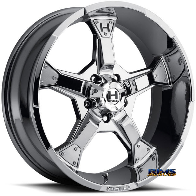 Pictures for Hostile Truck Wheels H101 KNUCKLES 5 - PVD chrome