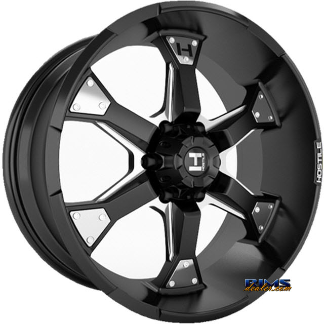 Pictures for Hostile Truck Wheels H101 - KNUCKLES 6 black flat w/ machined