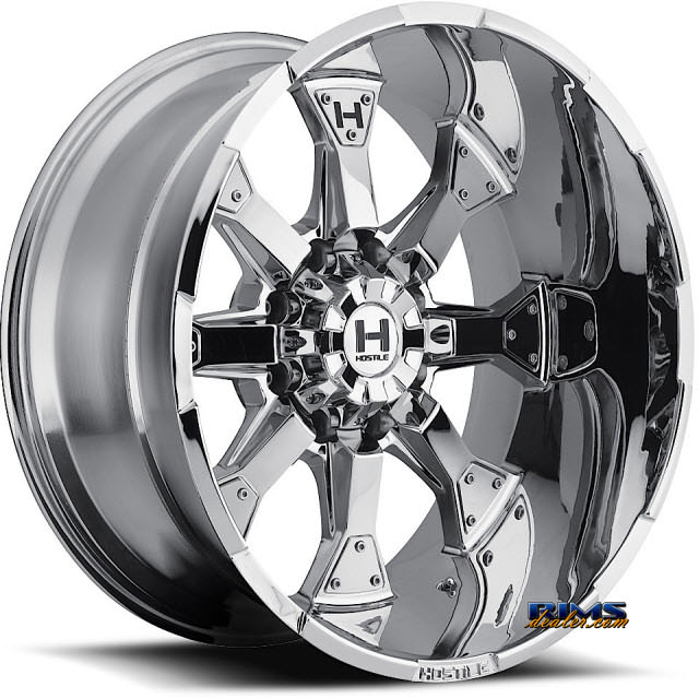 Pictures for Hostile Truck Wheels H101 KNUCKLES 8 - PVD chrome