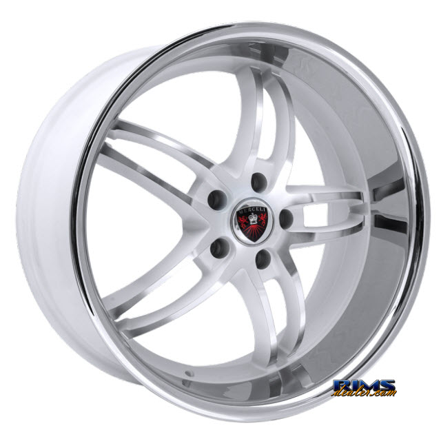Pictures for MERCELI Wheels M16 - Chrome Lip Machined w/ Silver