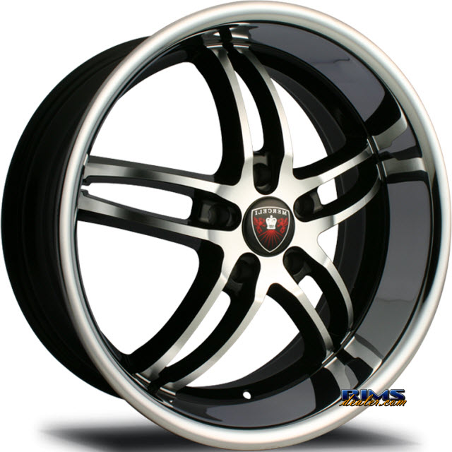 Pictures for MERCELI Wheels M16 - Chrome Lip black w/ chrome lip