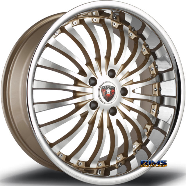 Pictures for MERCELI Wheels M20 - Chrome Lip machined w/ gold
