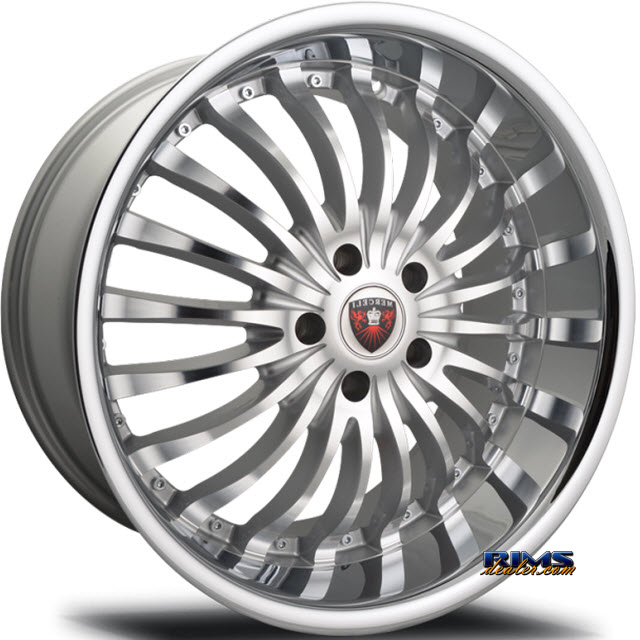Pictures for MERCELI Wheels M20 - Chrome Lip machined w/ silver
