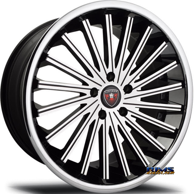Pictures for MERCELI Wheels M46 - Chrome Lip machined w/ black