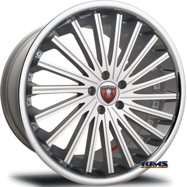 Pictures for MERCELI Wheels M46 - Chrome Lip machined w/ silver