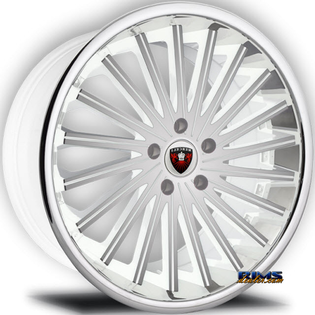 Pictures for MERCELI Wheels M46 - Chrome Lip machined w/ white