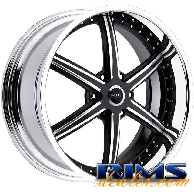 Pictures for MHT Forged STILLETO (6-LUG) machined w/ black