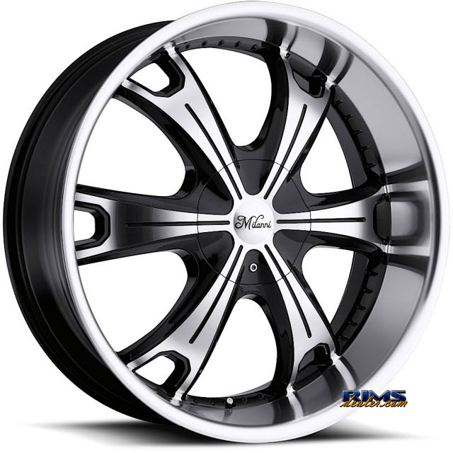 Pictures for Vision Wheel Milanni Stellar 452 black flat w/ machined