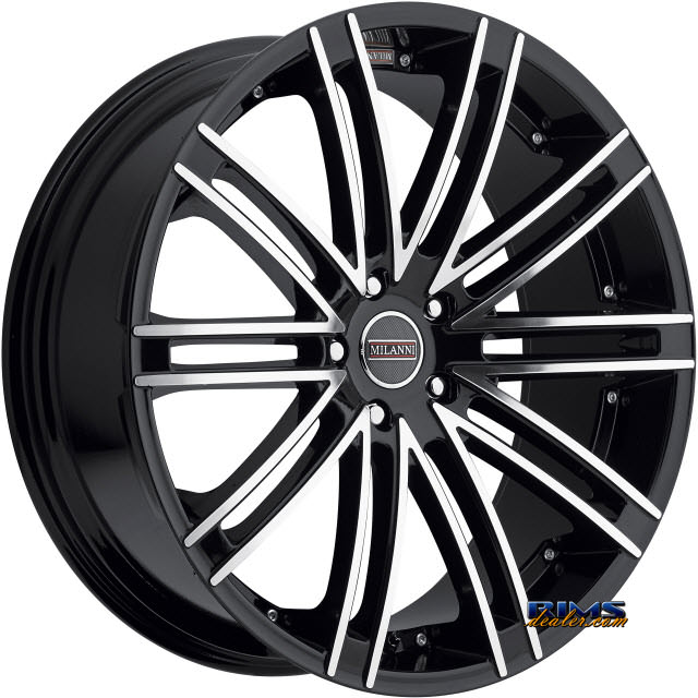 Pictures for Vision Wheel Milanni Khan 9032 black gloss w/ machined