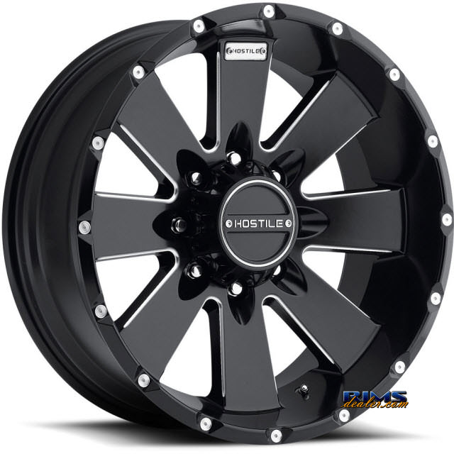 Pictures for Hostile Truck Wheels H100 - MOAB 8 black flat w/ machined