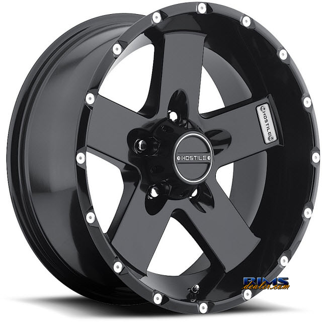 Pictures for Hostile Truck Wheels H100 - MOAB 5 satin black