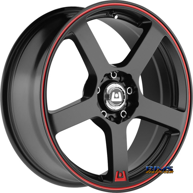 Pictures for Motegi Racing MR116 Black Gloss w/ Red