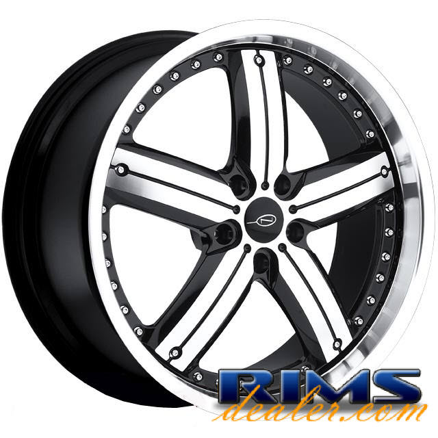Pictures for JAVV (5-LUG) machined w/ black