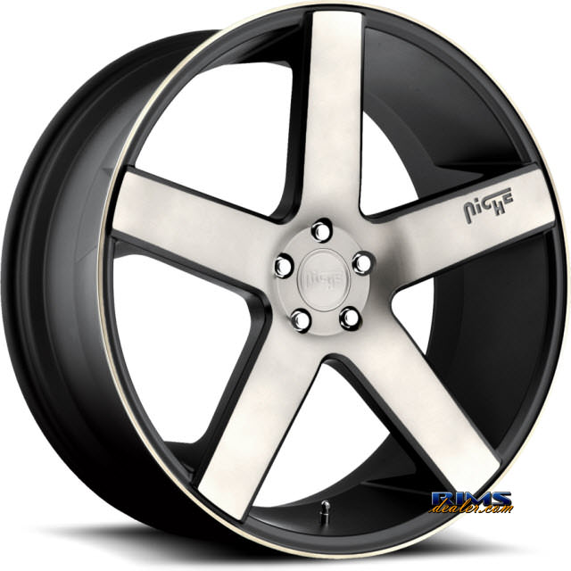 Pictures for NICHE Milan M134 SUV black flat w/ machined