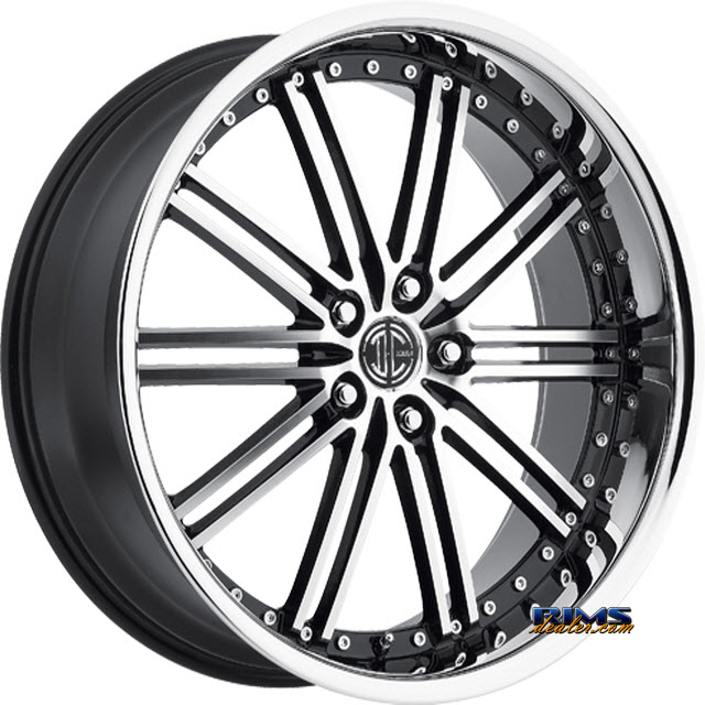 Pictures for 2Crave Rims No.33 - Chrome Lip machined w/ black