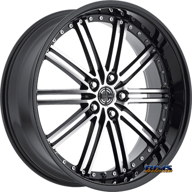 Pictures for 2Crave Rims No.33 machined w/ black