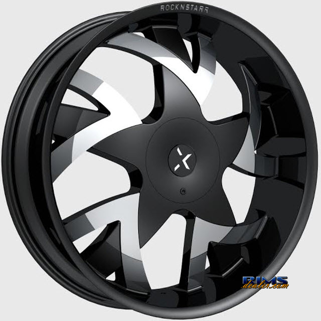 Pictures for ROCK-N-STARR WHEELS 962 STONES Black Flat