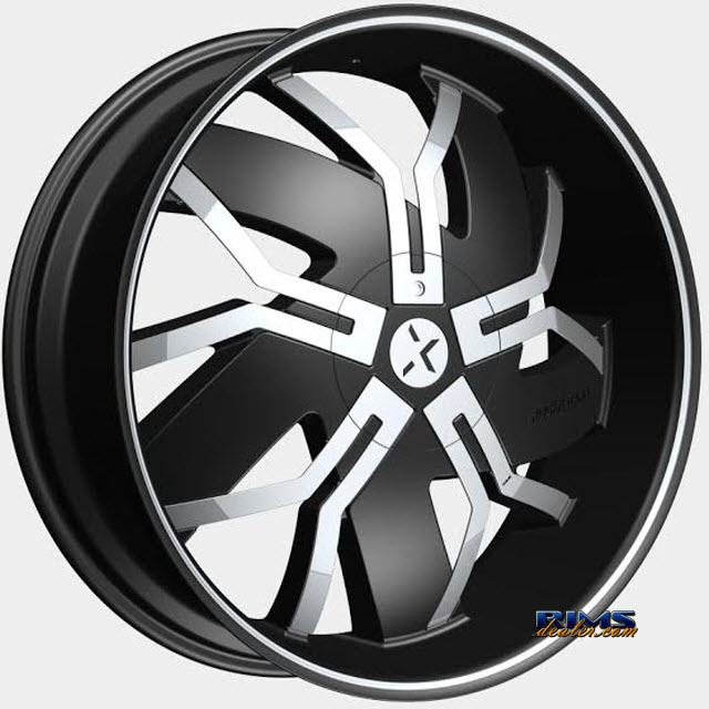 Pictures for ROCK-N-STARR WHEELS 965 FLOYD Black Flat