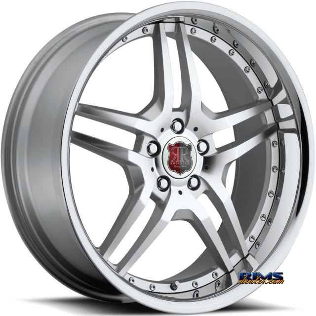 Pictures for Roderick Luxury Wheels RW2 silver w/ chrome lip