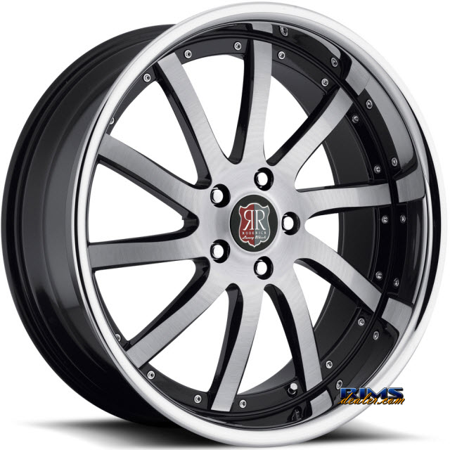 Pictures for Roderick Luxury Wheels RW4 black w/ chrome lip