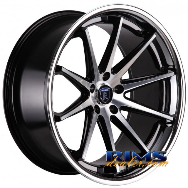 Pictures for Rohana RC10 machined black w/ chrome lip