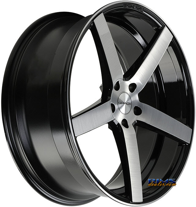 Pictures for Rovos Wheels DURBAN machined w/ black